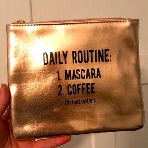 2/$20 Sephora makeup bag daily coffee mascara word